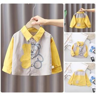IST40 Size80-120 (6-21kg) Áo sơ mi cho bé trai, ao so mi be trai Freeship Hàng Quảng Châu Thời trang trẻ em thumbnail