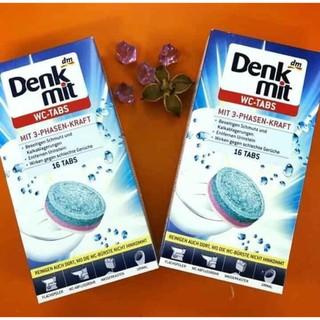 (Combo 6) Viên tẩy và làm sạch bồn cầu Denkmit hộp 16v