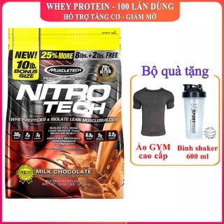 Sữa tăng cơ giảm mỡ siêu mạnh NitroTech của MuscleTech bịch 4.5 kg 100 lần dùng hỗ trợ tăng cơ, giảm cân, đốt mỡ thumbnail