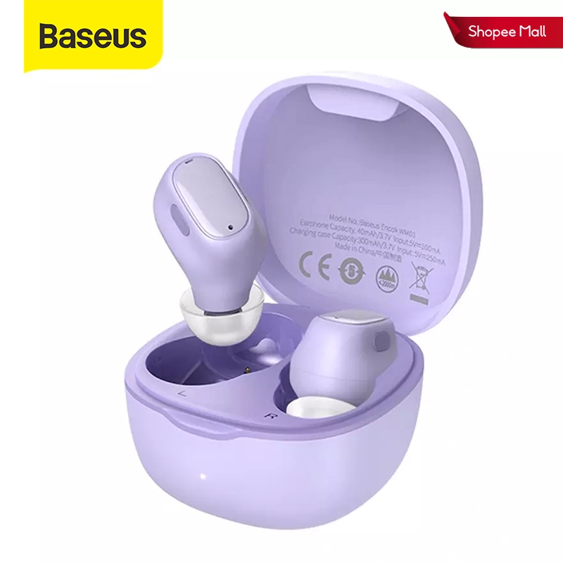 Tai Nghe Bluetooth 5.0 Baseus WM01 TWS Chống Ồn