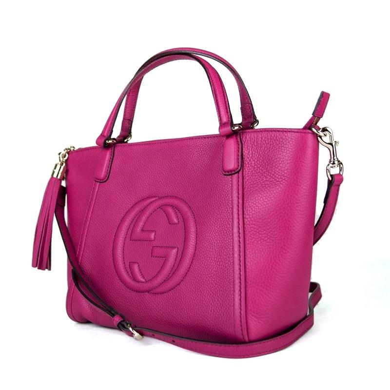 GUCCI  Gucci SOHO ชุดกระเป๋ากุชชี่ผู้หญิงกระเป๋าสะพาย 369176 ของแท้พิเศษ