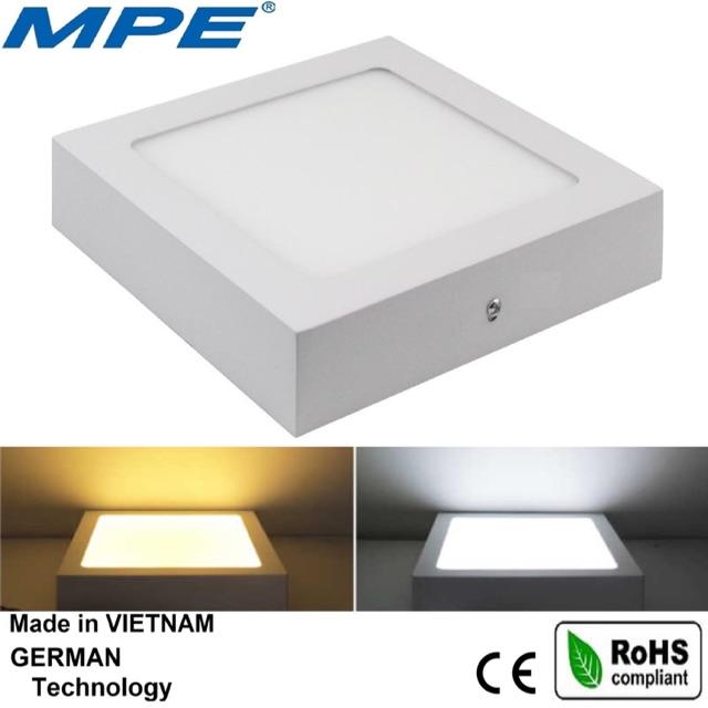 MPE đèn led panel ốp trần vuông 12W đạt chuẩn Châu Âu