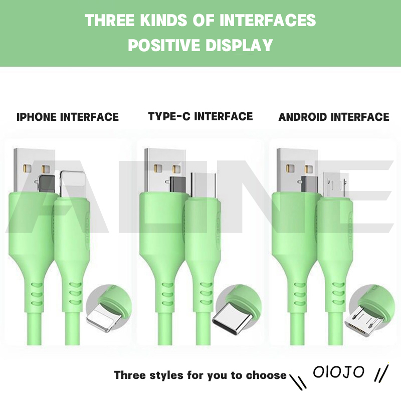 Dây Cáp Sạc Usb 5 Màu Cho Apple & Android