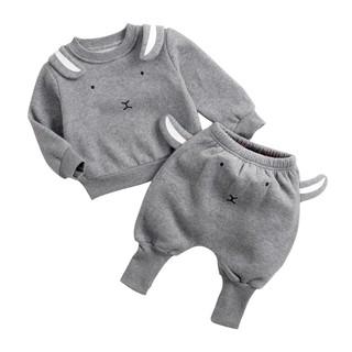 [Mã KIDMALL15 hoàn 15% xu đơn 150K] Set áo thun quần dài Sanlutoz hình chú thỏ thời trang mùa đông cho bé
