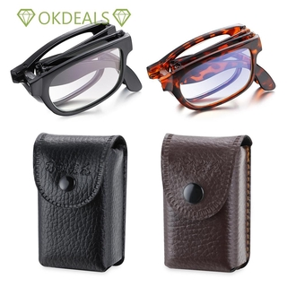 💎OKDEALS💎 Portable Vision Care Anti Blue Light with Glasses Case Eyewear Folding Reading Glasses
