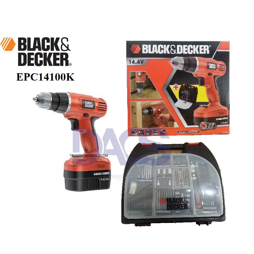 Bộ máy khoan vặn vít pin 14.4v EPC14100 kèm theo 100 chi tiết tiện dụng BLACK&DECKER - 2992742 , 520264484 , 322_520264484 , 1449000 , Bo-may-khoan-van-vit-pin-14.4v-EPC14100-kem-theo-100-chi-tiet-tien-dung-BLACKDECKER-322_520264484 , shopee.vn , Bộ máy khoan vặn vít pin 14.4v EPC14100 kèm theo 100 chi tiết tiện dụng BLACK&DECKER