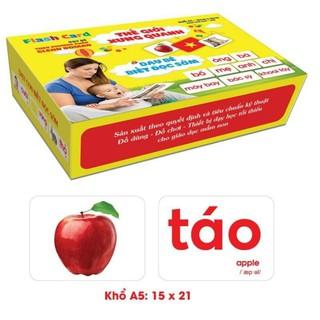 Bộ thẻ học thông minh Flash Card 14 chủ đề khác nhau loại to 15x21cm, giấy dày đẹp bo 4 góc an toàn, dễ dàng tráo tỉe