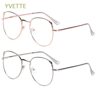 YVETTE Portable Vintage Vision Care Oversized Spectacles Metal Glasses6 4 thumbnail