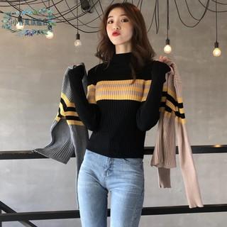 Áo Sweater Tay Dài Kẻ Sọc Kiểu Retro Thời Trang Cho Nữ 2020
