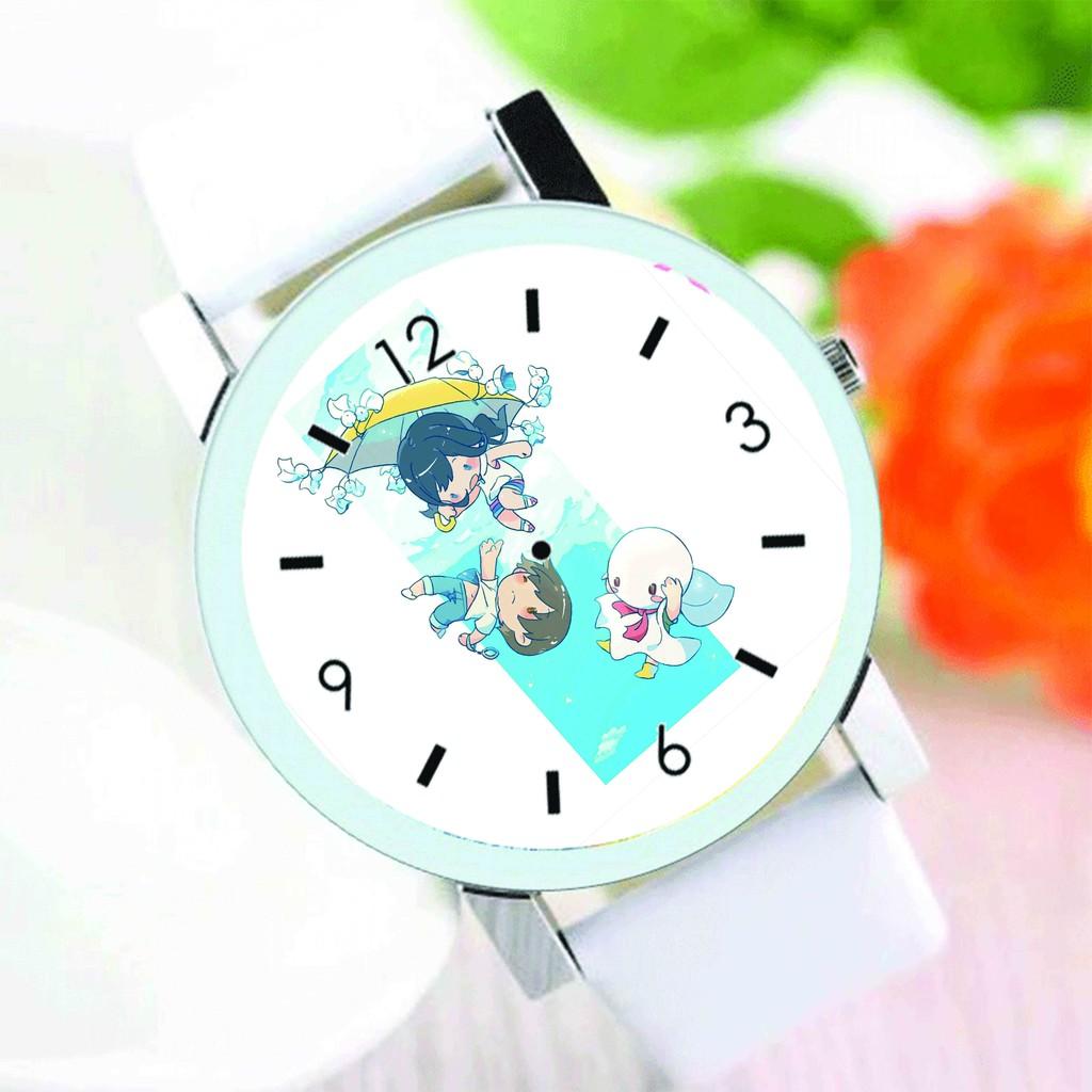 Đồng hồ đeo tay nam nữ in hình Tenki no ko ĐỨA CON CỦA THỜI TIẾT anime chibi thời trang dễ thương độc đáo