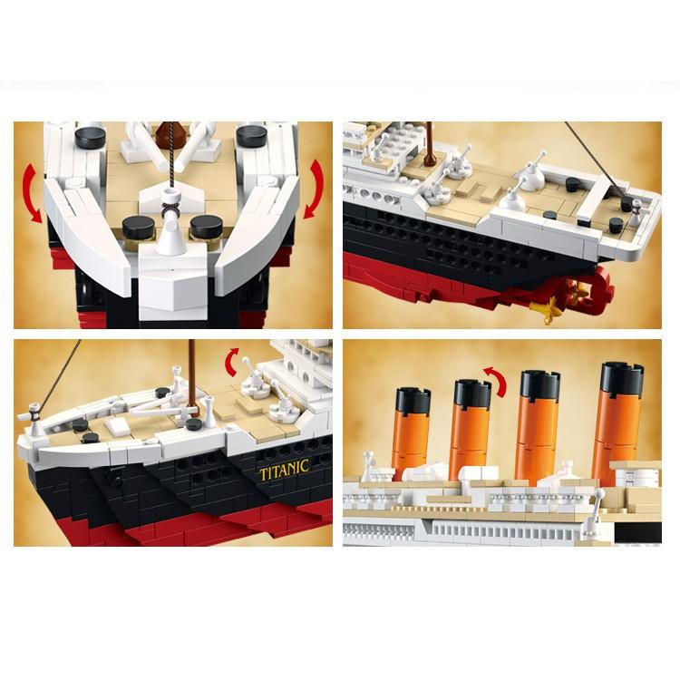1012 PCS Sluban Building Blocks Educational Kids Toy Titanic Model Ship  RoseJack B0577