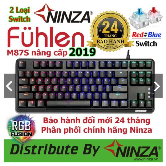 Bàn phím có dây Fuhlen M87S Blue
