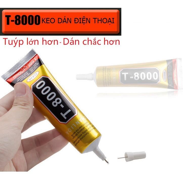 Keo T-8000 dán màn hình linh kiện điện thoại thủ công mỹ nghệ vải đính hạt ron lens camera T8000 50ml tốt chắc hơn B7000