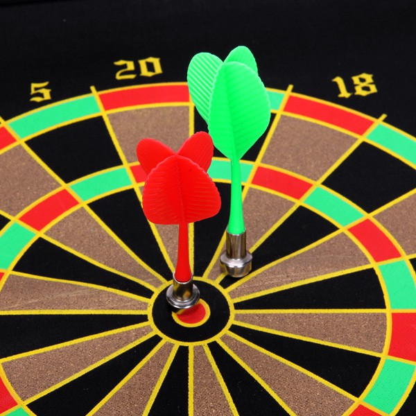 Hanging Magnetic Dart Board 2 Targets with 4 Magnetic Darts