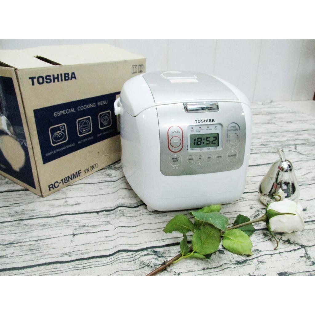 [NHẬP ELMIMAY HOÀN 25K XU]Nồi cơm điện tử Toshiba RC-18NMFVN(WT) 1.8 lít (Hàng trưng bày - Bảo hành 12 th