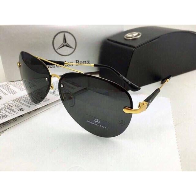 Kính mát nam Mercedes gọng vàng Siêu Cấp - Kính mắt nam nữ - Chống tia UV400 [FREE SHIP]
