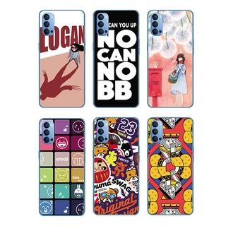 Cartoon Dandelion Girl Silicone Back Cover OPPO Reno 5 Pro 5G/Find X3 Pro A55 A93 A15 A15S Soft TPU Case Shockproof