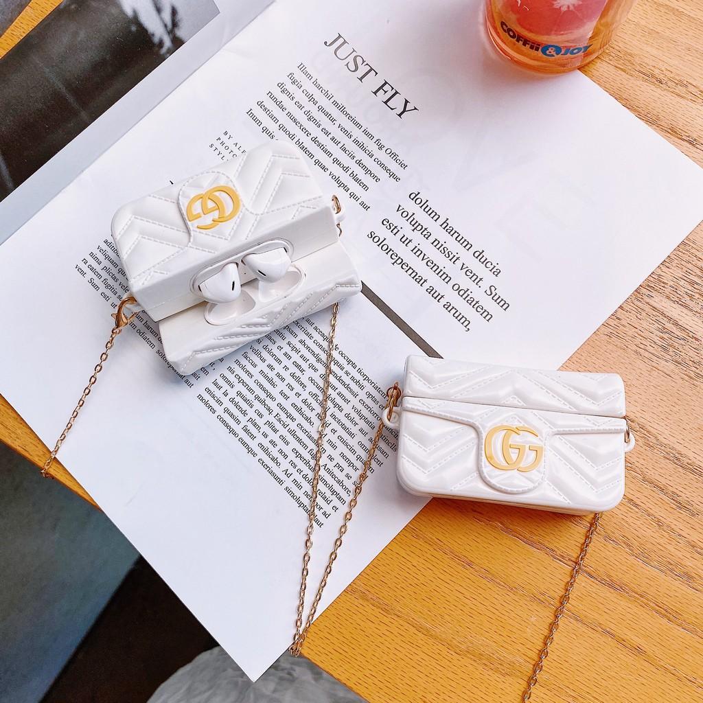 Vỏ mềm đựng hộp sạc tai nghe không dây Apple Airpods 1/2 pro thiết kế hình túi xách thời trang