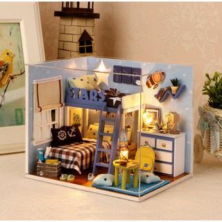 Mô hình nhà búp bê Cute Room – Phòng ngủ STARS TREK của 2 anh em với gam màu trời đêm