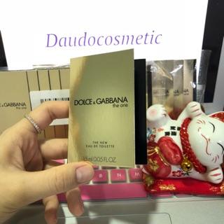 [vial] Nước hoa Dolce & Gabbana The One D&G The One Vàng EDP 2ml thumbnail