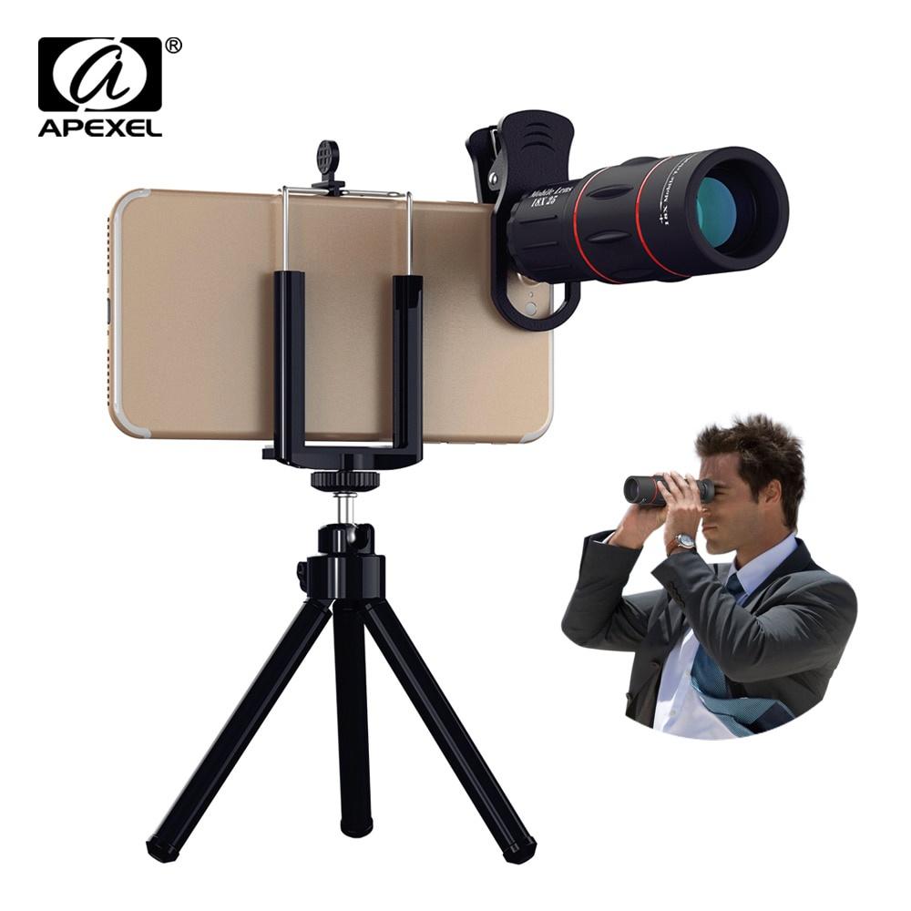 APEXEL 18X Monocular Telescope Zoom lens long range Binoculars Mobile Phone Camera Lens For Tourism Camping Hunting Outdoor【hy】