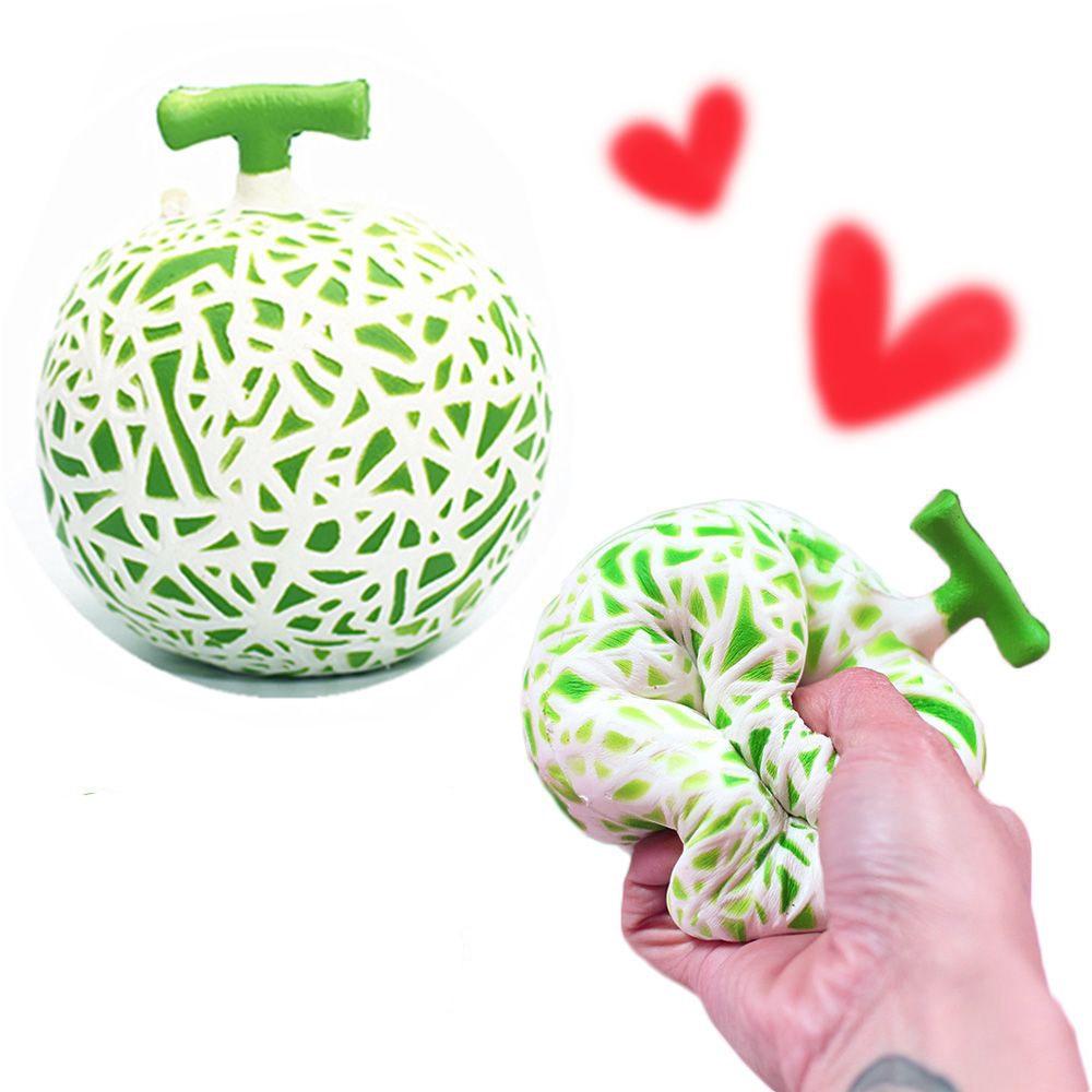 Super Soft Funny Charm Jumbo Fruit Squishies Simulation Melon