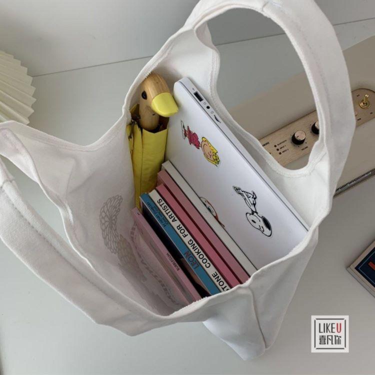 Túi tote vải bố đựng đồ canvas đeo chéo quả dâu phong cách Hàn Quốc siêu dễ thương