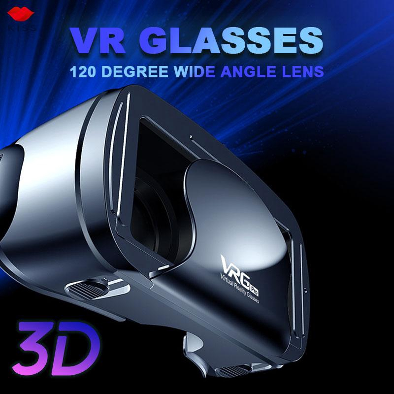 Virtual Reality Glasses 3D VR Glasses VRG PRO Head-Mounted Focus Adjustment Home Movies Multifunctional Portable