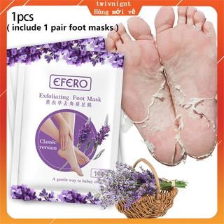 twivnignt Mặt nạ tẩy tế bào chết cho chân Mặt nạ lavender ủ tẩy tế bào chết bàn chân + tẩy vết chai + nứt gót chân + d thumbnail