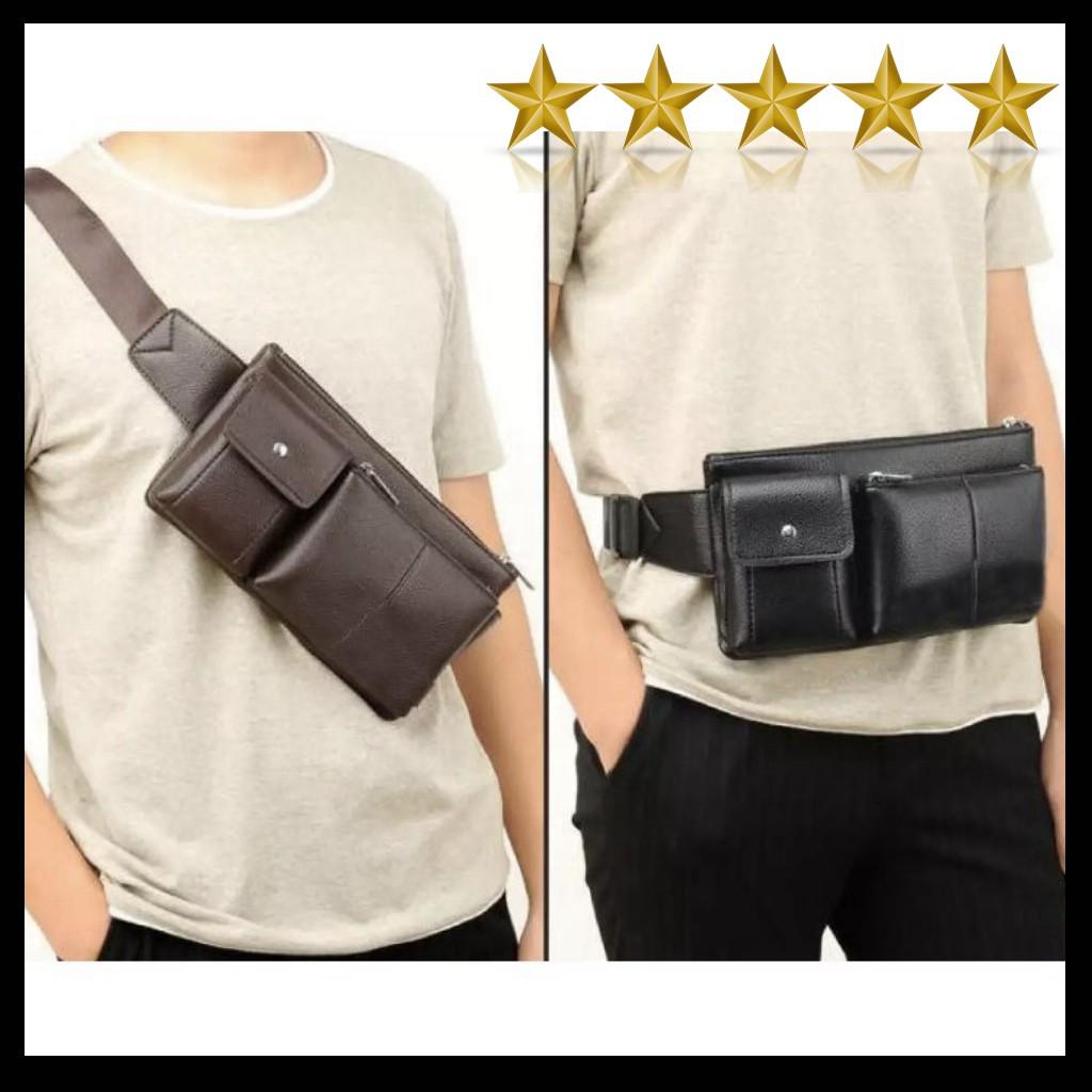 💥 FREESHIP💥 Túi đeo chéo bao tử da Nam Nữ style HỘP ĐỨNG chất da Pu/ tui bao tu/ tui deo cheo/ ulzzang/ balo/ cặp