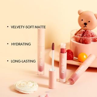 Son Kem Pink Bear Butter Cream Tint Velvet Matte Lip Long-lasting Hydrating High coverage 8 Shades 2.5g 2