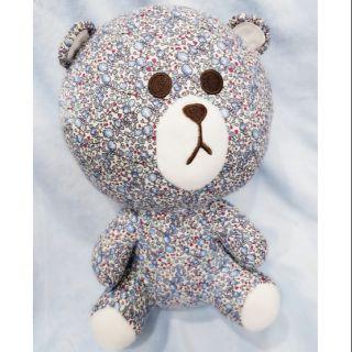 Gấu bông teddy vải hoa