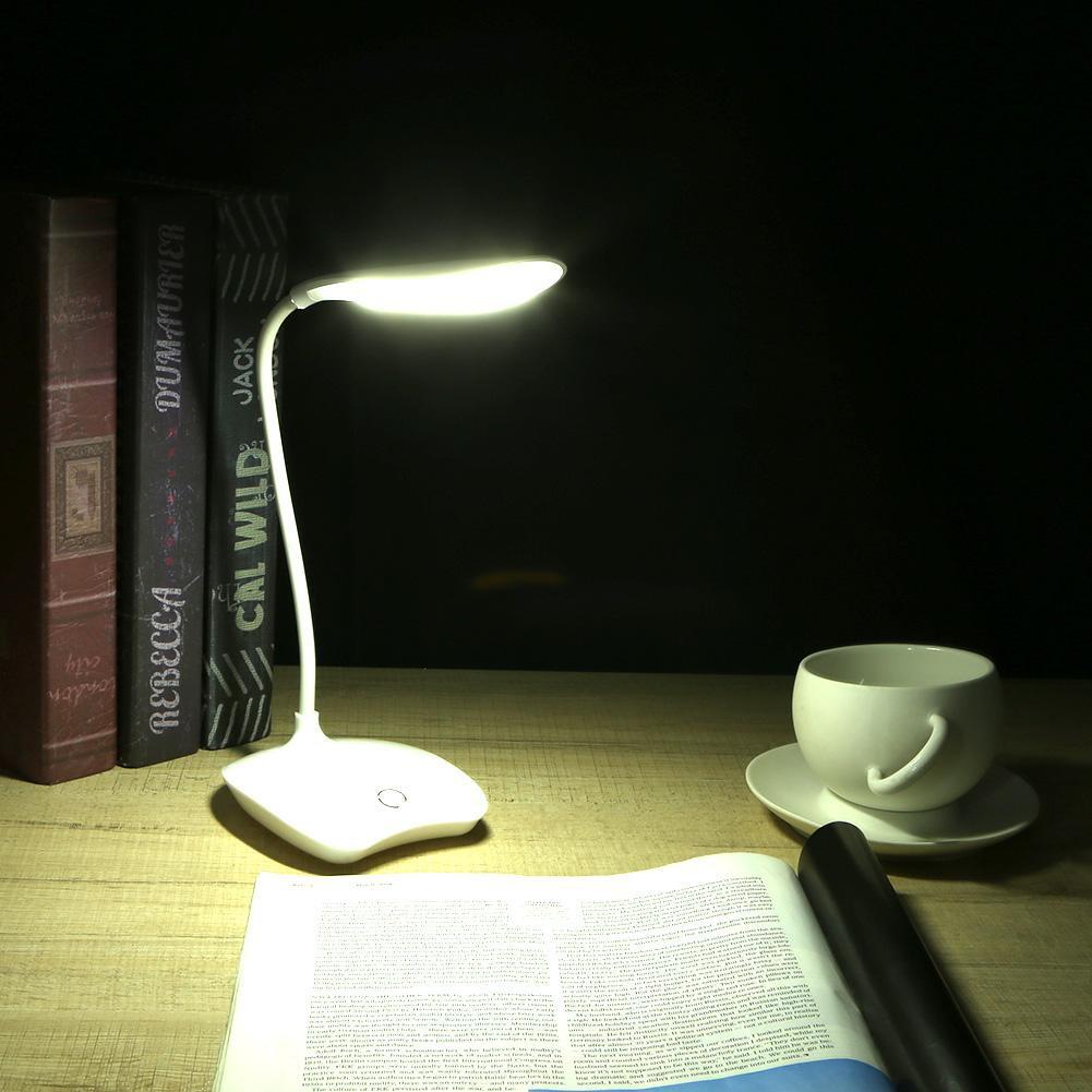 Đèn bàn đọc sách 3 chế độ LED chạm cảm ứng có kẹp tiện lợi