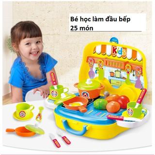 Bộ đồ chơi bé học làm đầu bếp, hộp hình xe ô tô bán hàng