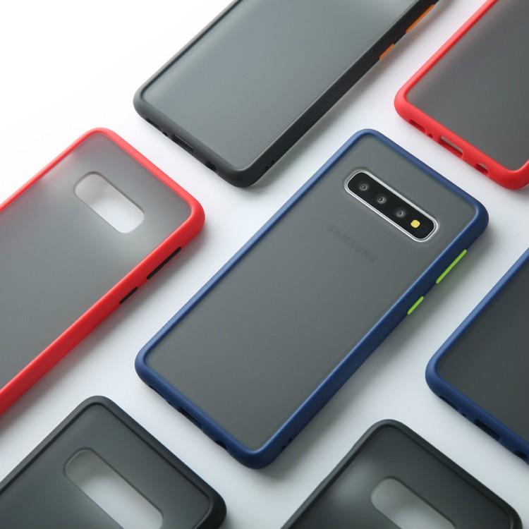 Ốp điện thoại PC cứng mặt nhám trong suốt cảm giác chạm mềm mại màu tương phản cho Samsung S8 S9 S10Plus Note8/9