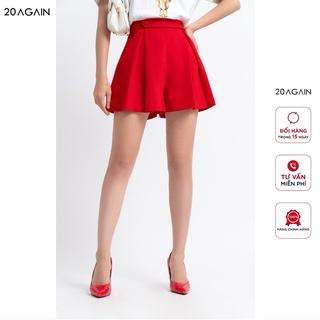 Quần short nữ 20AGAIN, ống rộng, dáng xòe, cúc bọc, SVC0041 thumbnail
