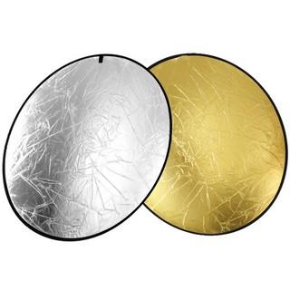 Yêu ThíchTấm hắt sáng tròn 2 mặt đầy đủ kích thước 2 trong 1 vàng bạc
