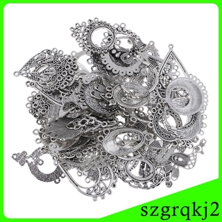 60 Pcs Mixed Vintage Charms DIY Choker Necklace Earring Jewelry Making Craft