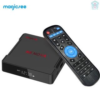 【E&V】Magicsee N5 NOVA Smart Android 9.0 TV Box RK3318 Quad Core 64 Bit 4K 4GB / 64GB  2.4G & 5G WiFi & 100M LAN HD H.265 VP9 Decoding HD Media Player