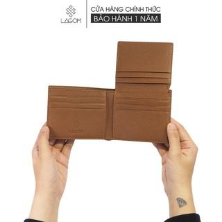 Ví nam Da Thật LAGOM Plus wallet – dáng ngang có ngăn để ảnh *