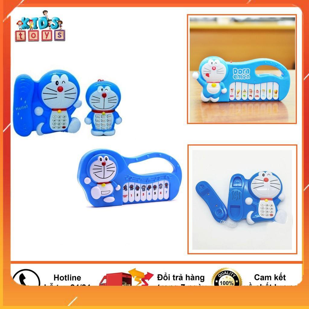 Đồ chơi Doraemon, combo 3 món đồ chơi doraemon phát nhạc, chạy pin -Đồ chơi Panda