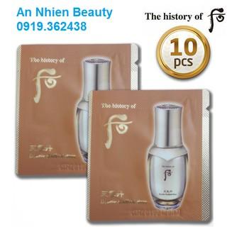 Combo 10 gói kem lót tái sinh Whoo Make up Cheongidan Double Radiant Base 1ml x 10