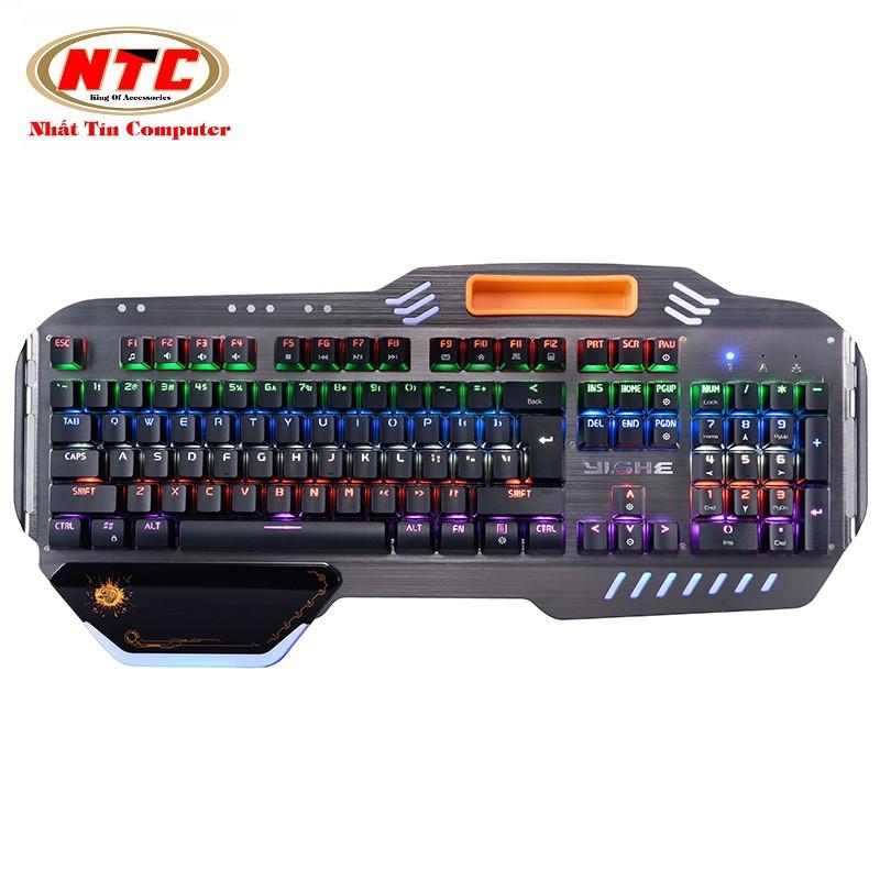 Bàn phím cơ cao cấp Yishe YS-K1000 Led 6 màu - 12 chế độ (Đen) - 2543718 , 626858122 , 322_626858122 , 1055000 , Ban-phim-co-cao-cap-Yishe-YS-K1000-Led-6-mau-12-che-do-Den-322_626858122 , shopee.vn , Bàn phím cơ cao cấp Yishe YS-K1000 Led 6 màu - 12 chế độ (Đen)
