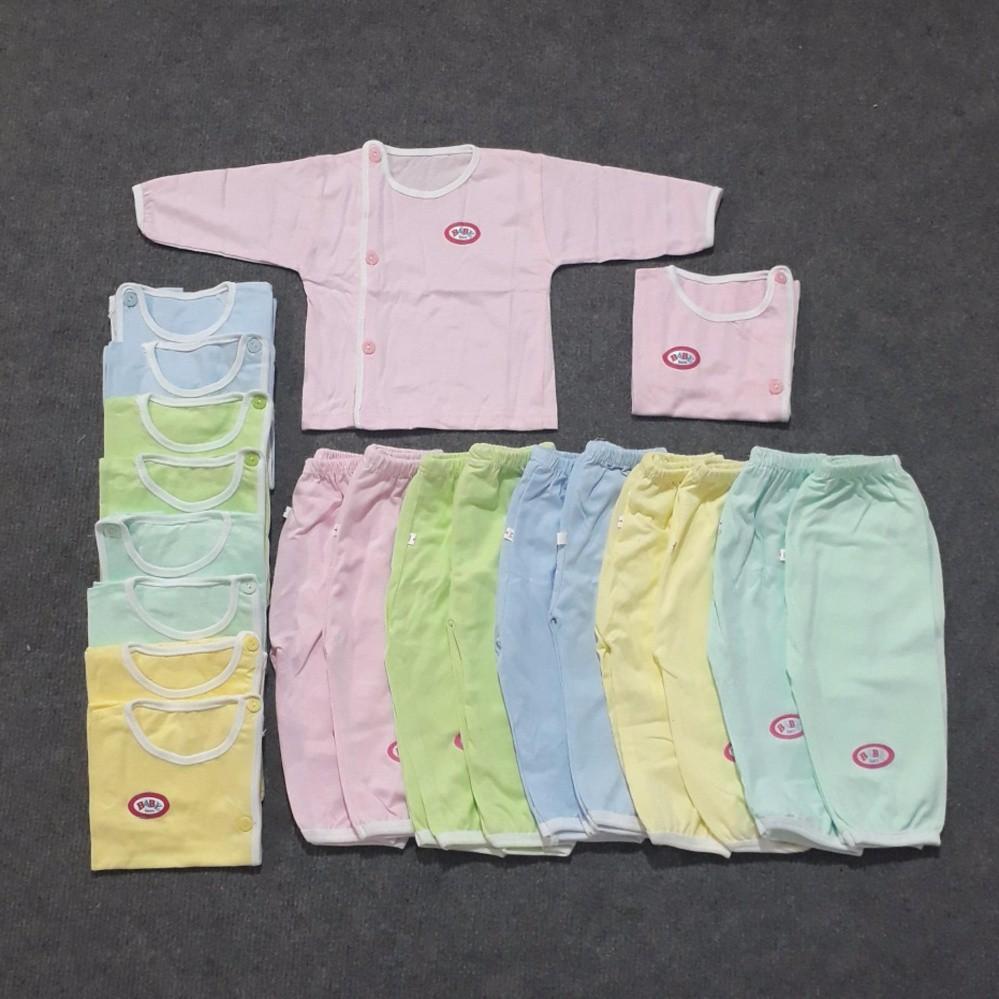 Combo 1 bộ quần áo sơ sinh cao cấp Baby Born dài tay cúc chéo