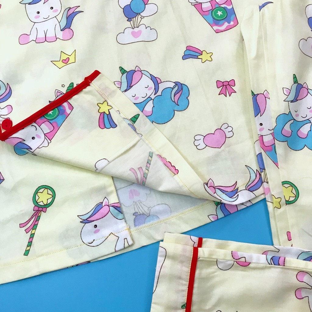 Pijama cho bé Thô cotton mềm mịn hút mồ hôi - Mẫu bé gái xinh 10-45kg