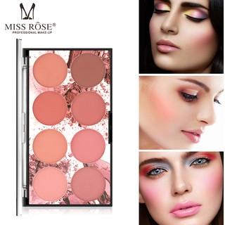 Bảng Phấn Má Trang Điểm Chuyển Nghiệp Miss Rose 8 Màu, Mỹ Phẩm Makeup Tiện Dụng Mềm Mịn Lên Màu Tự Nhiên Cho Mọi Loại Da thumbnail