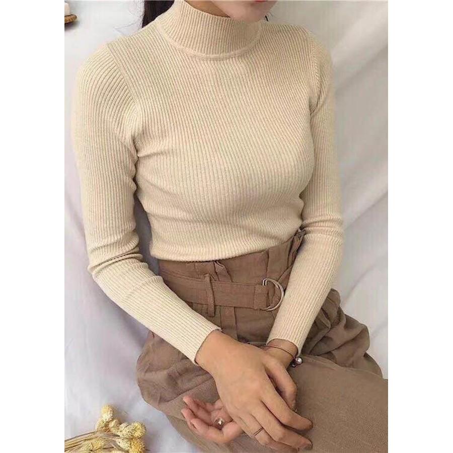 Áo LEN cổ Ba Phân ( chất len gân )