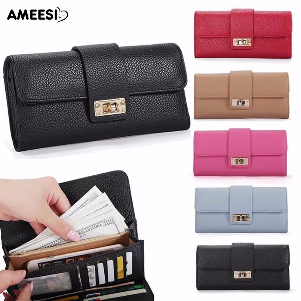 👜👝AMEESI Women Trifold Wallet Clutch Phone Card Holder Purse