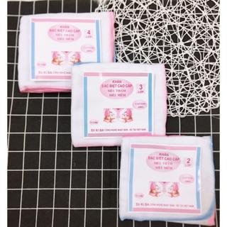 [Mã MKBCSALE1 giảm 8% đơn 250K] 10 khăn xô sữa Kiba siêu thấm, siêu mềm 2 lớp 3 lớp 4 lớp