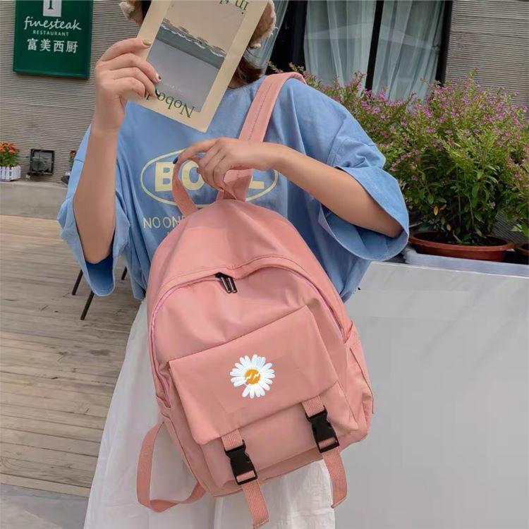 [CHUYÊN SỈ] Ba lô nữ, balo nữ đi học đi làm đi chơi chống thấm nước cao cấp phong cách Hàn Quốc in hình hoa cúc